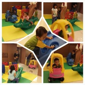 Tersedia playground sehingga anak-anak tak bosan