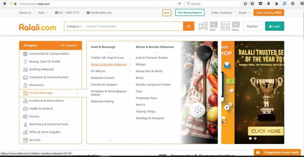 Kategori-kategori produk di Ralali.com