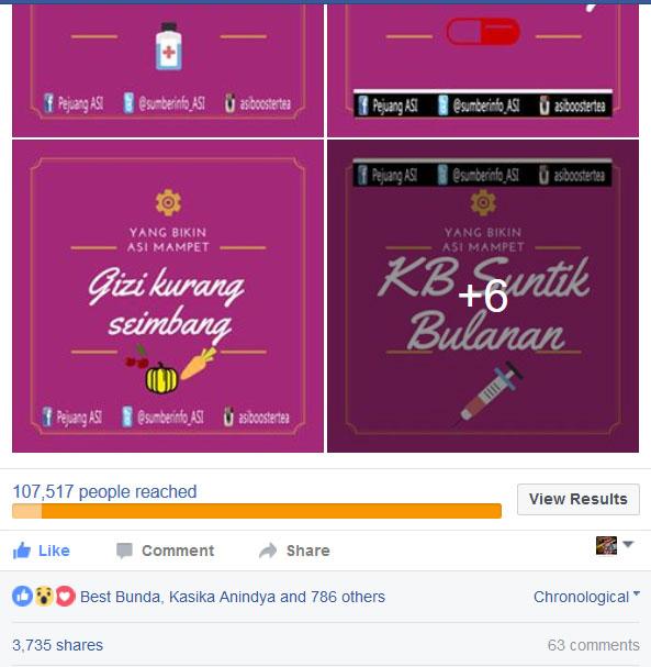 Hasil karya Photoshop yang membanggakan. Karena Engagementnya besar saat dishare di Facebook. Mencapai 3.735 shares, 63 comments, dan 700-an likes.