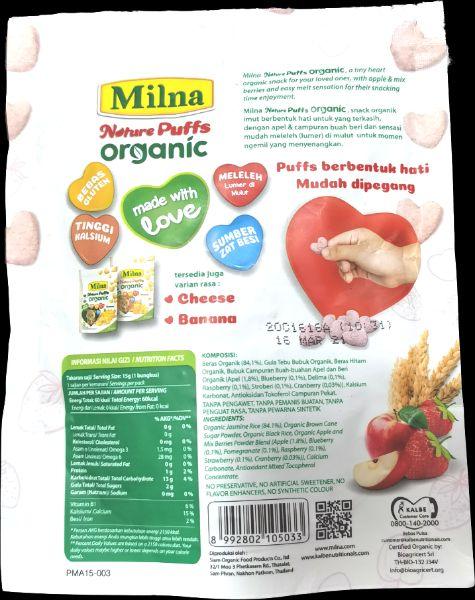 Komposisi Milna Puffs Organic