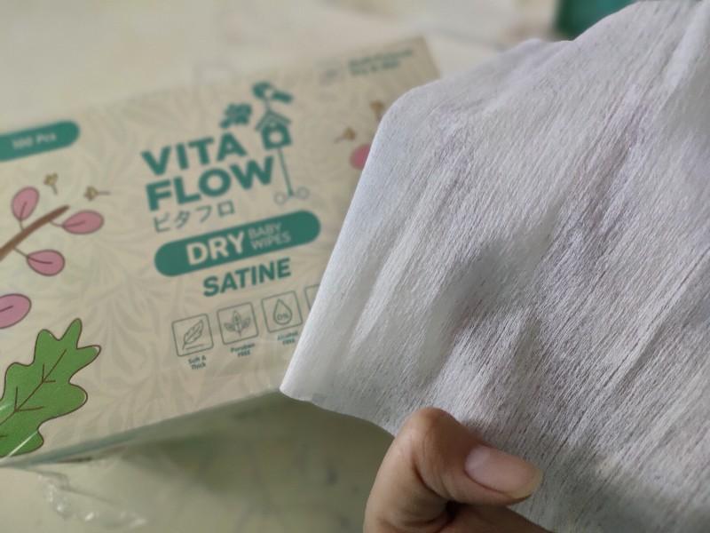 Vitaflow dry wipes satine